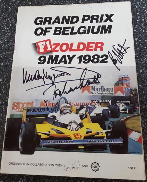 1982 Belgium Grand Prix Cover