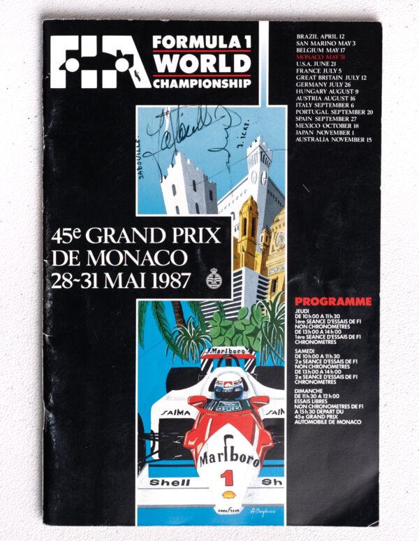 1987 Monaco Grand Prix Autographed Program