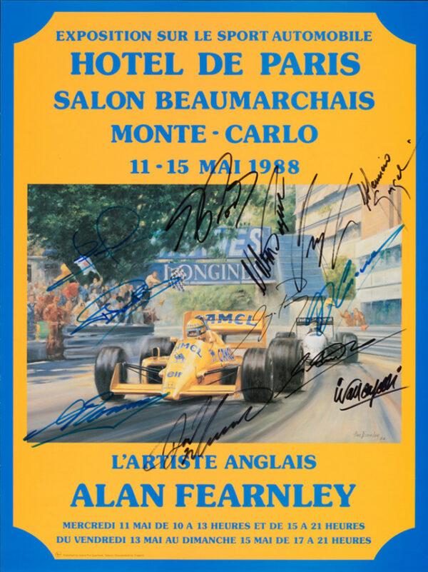 1988 Hotel de Paris Poster - Fearnley