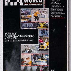 1989 Australian GP Program