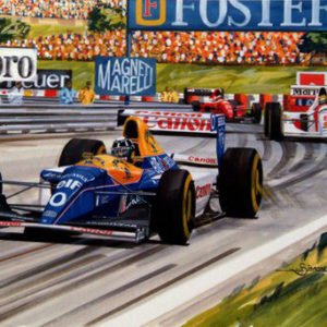 76 To Go Damon Hill Print