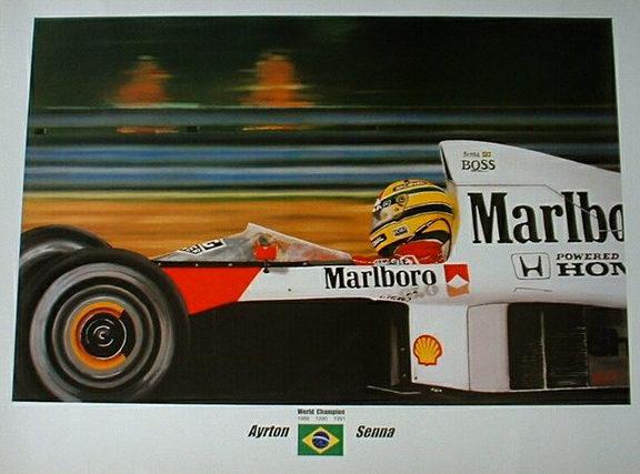 Ayrton Senna Print by Zsolt Nagy