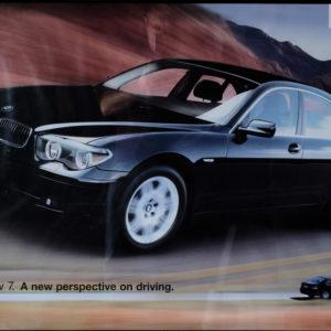 BMW 745i Framed Factory Poster
