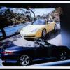 Framed Porsche Cabriolets Factory Poster