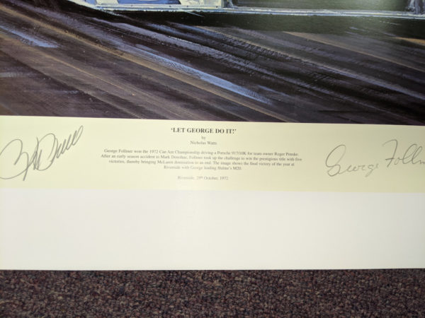 Let George Do It - Penske & Follmer Signatures