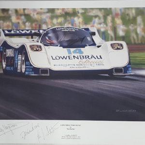 Lowenbrau Porsche Print