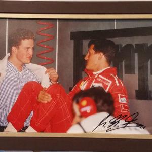 Michael & Ralf Schumacher Autographed Photo Car Racing