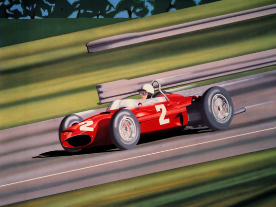 Monza 1961 Signed by Phil Hill