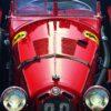 Alfa Romeo original Red Blooded Charles Maher car racing art posters