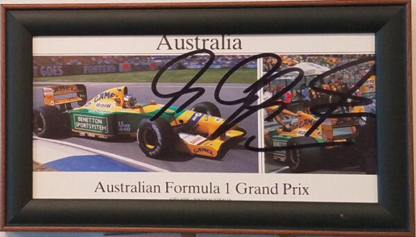 Schumacher Australian GP Autographed Card Car Racing