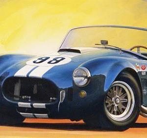 Blue Cobra Print by Charles Maher
