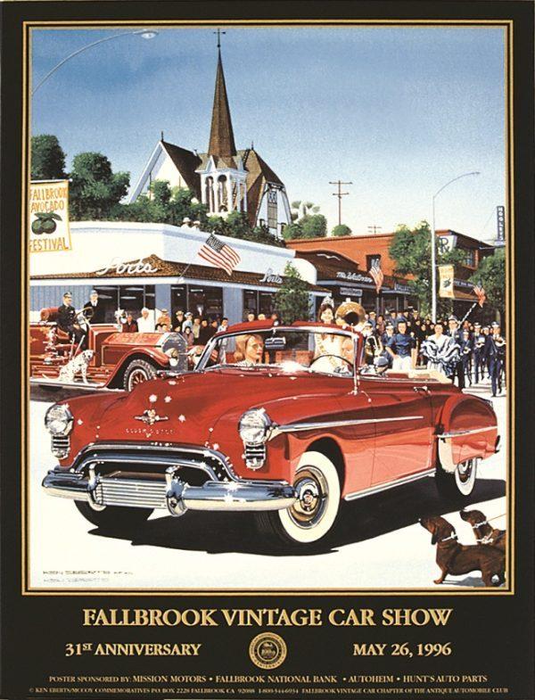 1996 Fallbrook Vintage Car Show Poster – Ken Eberts