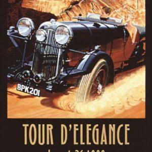 1999 Pebble Beach Tour d' Elegance Poster – Ken Eberts