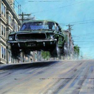 Bullitt Gives Chase Steve McQueen Print