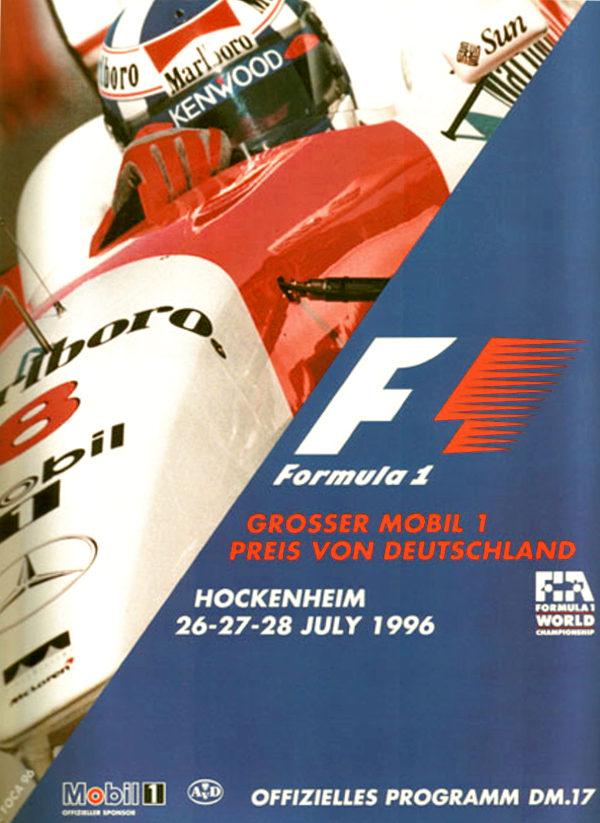 Signed original auto art memorabilia 1996 Hockenheim Program