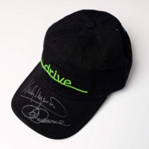 """Black """"Drive"""" Cap Autographed by Penske & Haywood"""