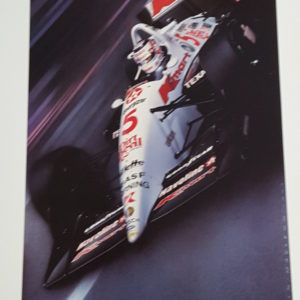 Poster of racing art Nigel Mansell in Paradise MacLeod