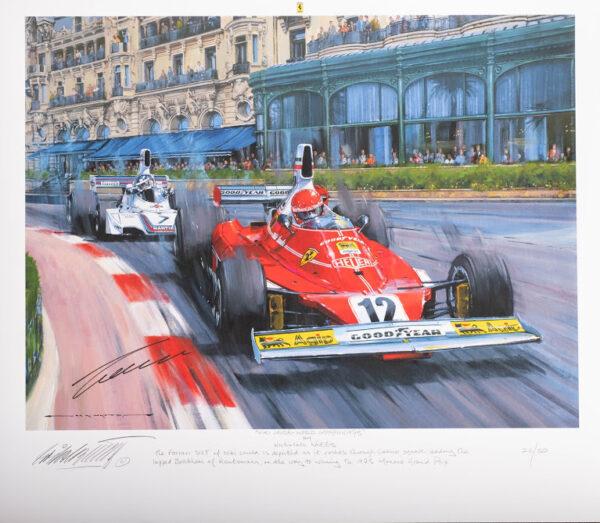 Niki Lauda World Champion signatures