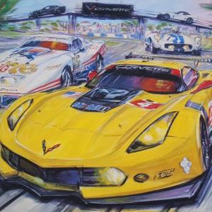Corvette at Sebring - Roger Warrick