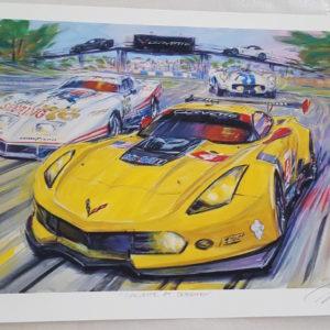 Corvette at Sebring by Roger Warrick