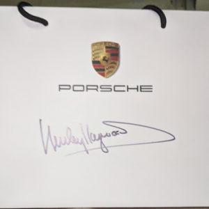 Hurley Haywood Signed Porsche Bag
