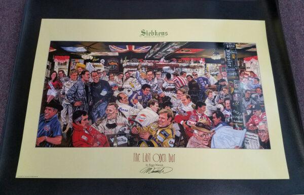 Poster Car Racing Siebkens The Last Open Bar - Roger Warrick