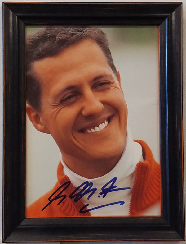 Smiling Schumacher Signed Picture