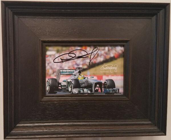 Nico Rosberg Autographed Framed Photo Card