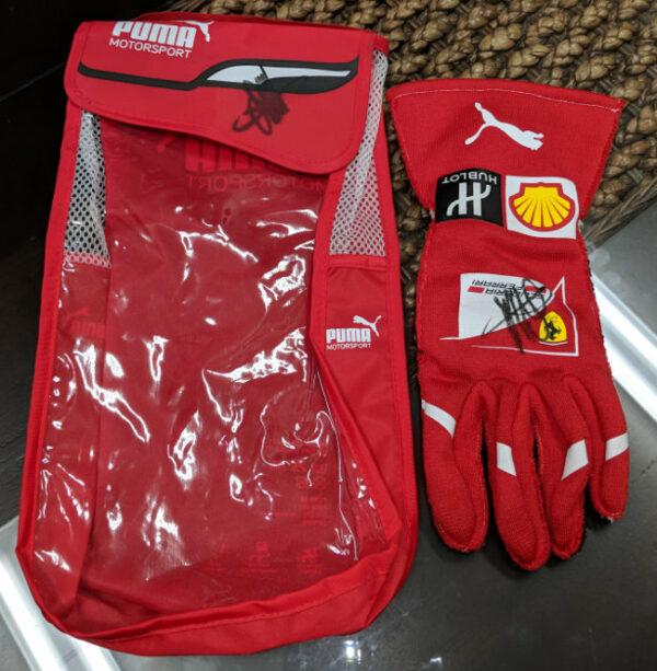 Autographed Puma Bag Signed Vettel Glove