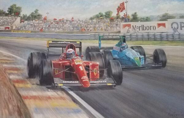 Ferrari 100 by Alan Fearnley