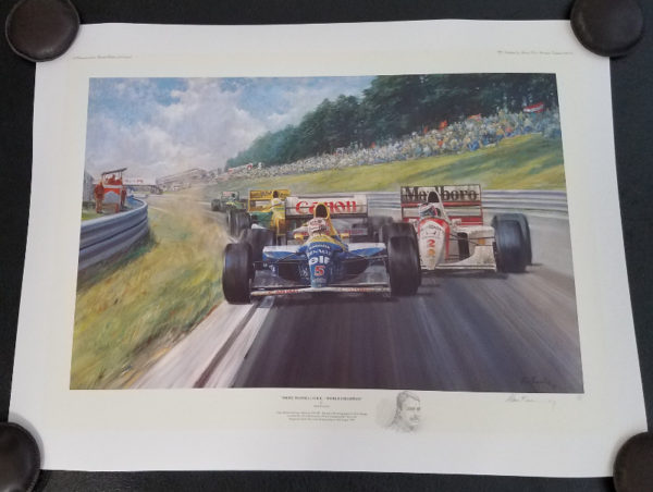 Nigel Mansell OBE World Champion - Alan Fearnley
