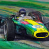 The Pilot - Jim Clark Print by Alan Greene