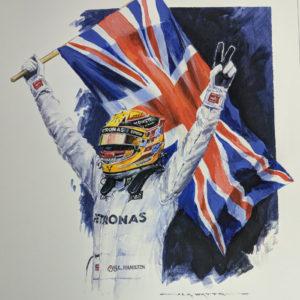 Lewis Hamilton - Quadruple Champion by Nicholas Watts - CloseUp