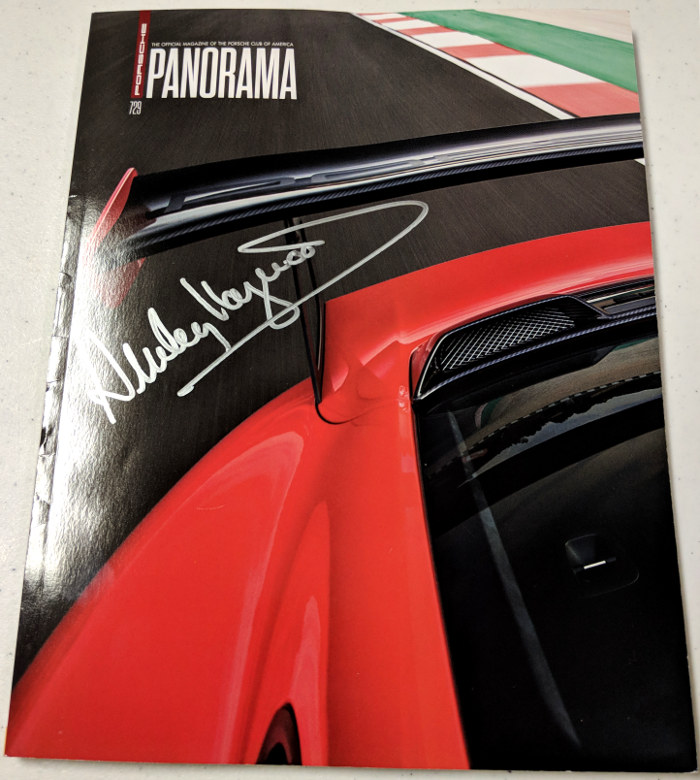 Panorama Porsche Car: Porsche Panorama Dec 2017 Signed By Haywood
