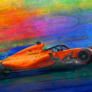 Uphill Battle - Fernando Alonso Print