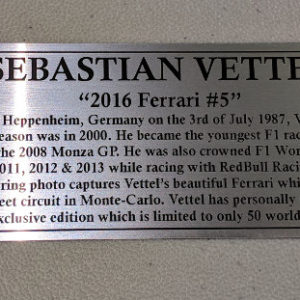 Sebastian Vettel 2016 Silver Plaque