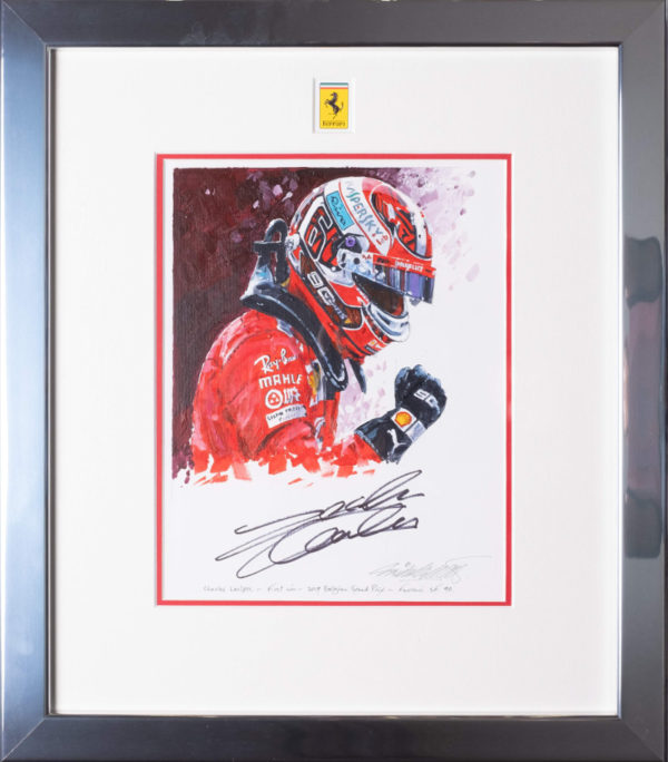 Charles Leclerc First Win Painting