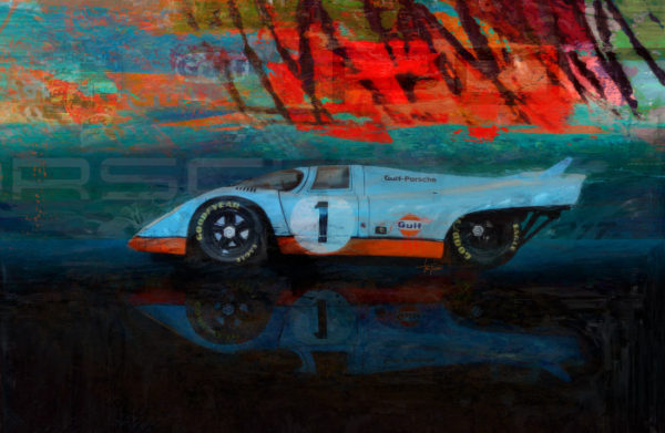 Porsche 917 - We're Number 1 Print by Alan Greene