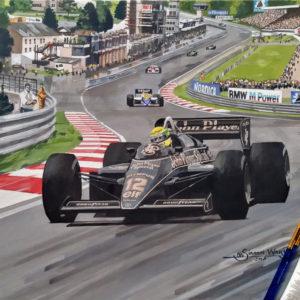 Ayrton Senna JPS Lotus - Simon Ward