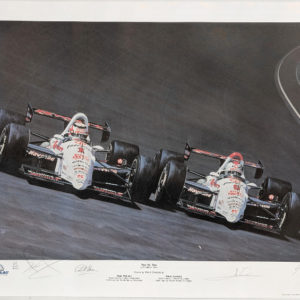 Two by Two Mansell and Andretti Print by Yohe