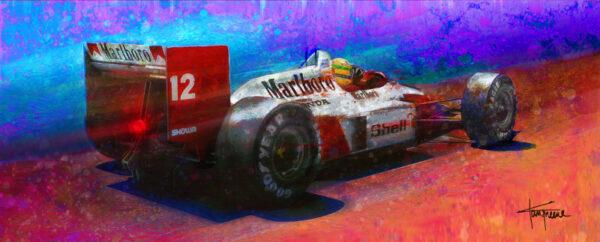 "Ayrton Senna ""Pole Dancer"" print by Alan Greene"
