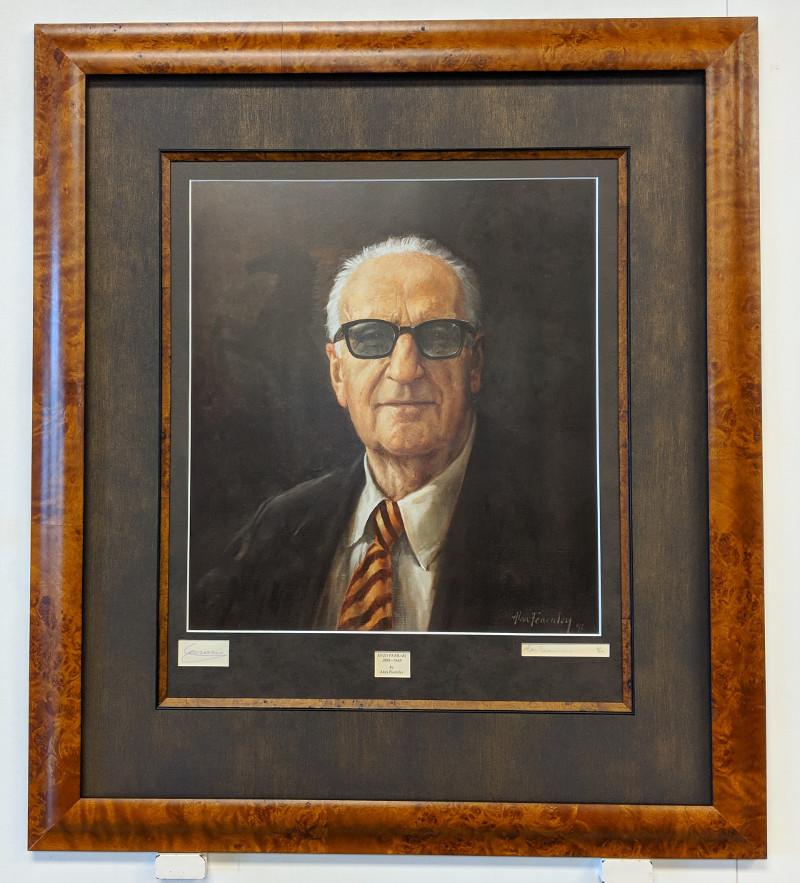 Autographed Enzo Ferrari Portrait Print