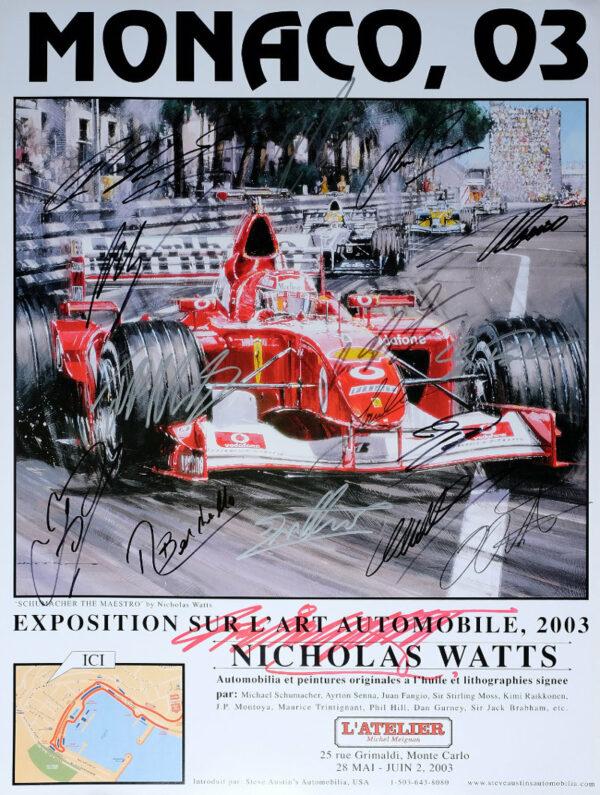 Monaco '03 Poster by Nicholas Watts