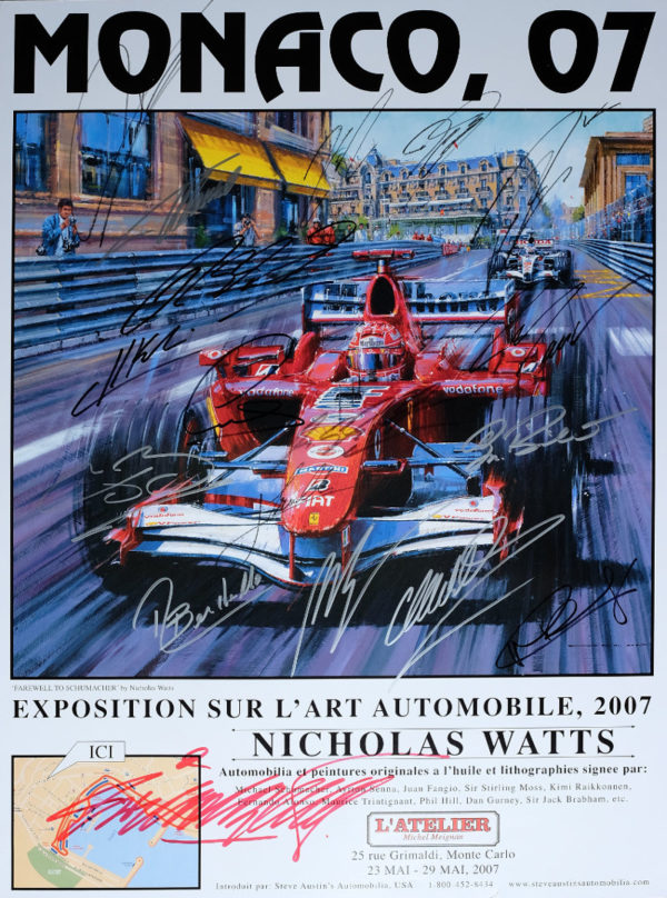 Monaco 07 Autographed Poster by Nicholas Watts