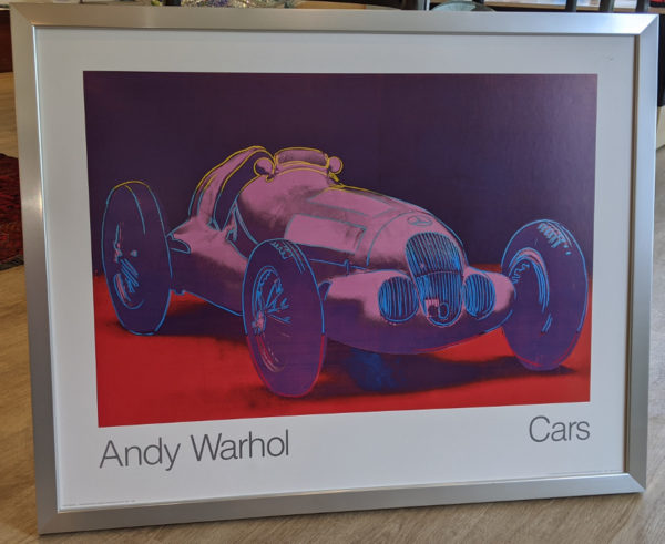 """Andy Warhol Poster """"Cars"""""""