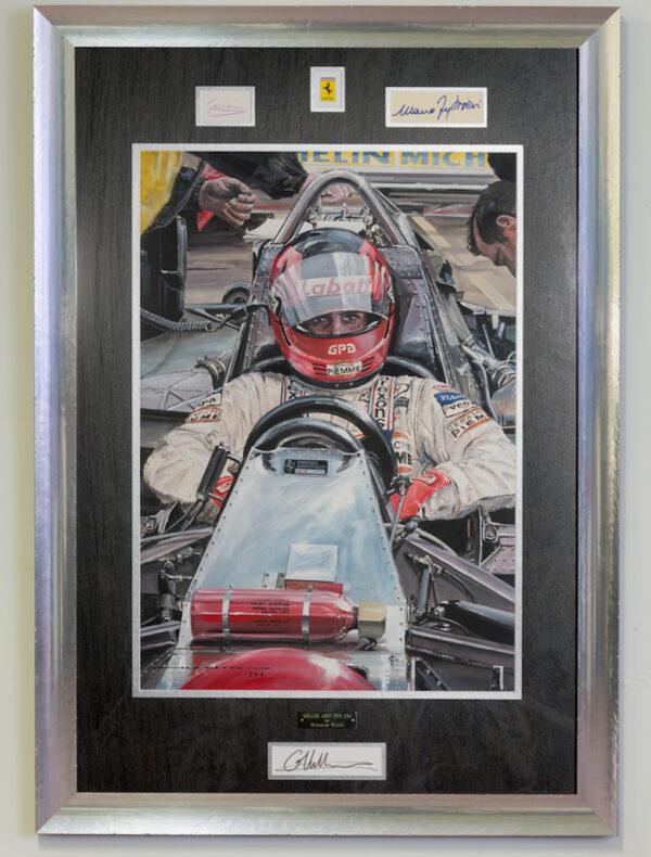 Gilles Villeneuve 126 Framed
