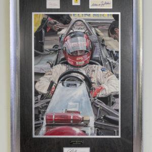 Gilles Villeneuve Painting Framed - Nicholas Watts