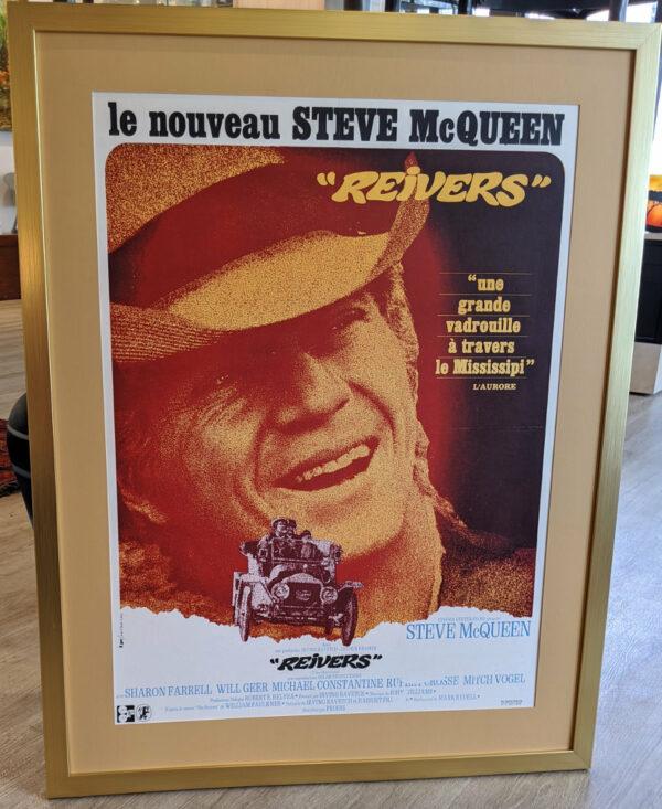 Steve McQueen Reivers Framed Poster