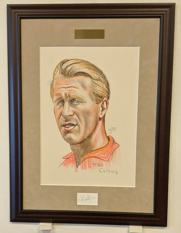 Peter Collins Color Charcoal Portrait by Zito