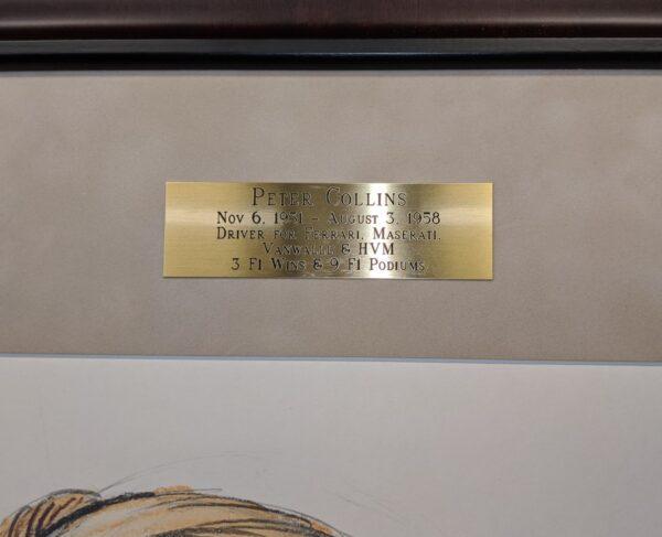 Peter Collins Plaque Detail